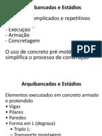 Aplicações concreto pré-moldado