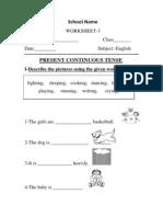 English Worksheet 3