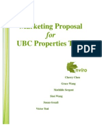 Marketing Proposal for UBC Properties Trust