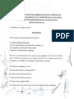 12 06 06 Acta reunion acuerdo expediente despido colectivo y suspension de contratos en Banca Cívica, firmado 2012 06 05