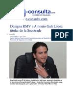 17-02-2014 e-consulta.com - Designa RMV a Antonio Gali López titular de la Secotrade.pdf