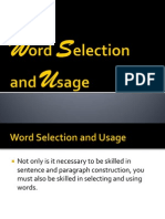 Group 3 - Word Selection and Usage
