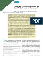 Dexamethasone to Prevent Postoperative Nausea and Vomiting an Updated Meta-Analysis of Randomized Controlled Trials