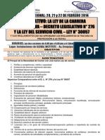 Curso Nacional_comparativo Ley Carrera Administrativa y Servicio Civil - Ley n30057_y Su Reglamento 20 21 y 22 de Febrero 2014