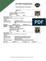 public arrest report for  2192014