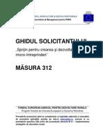 Ghidul Solicitantului M312 V07 Din IANUARIE 2014
