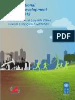 UNDP-China National Human Development Report 2013 #
