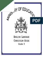 Level 8 English Curriculum Guyana