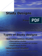 Study Designs in reasearch