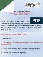 Aulas 23-26 - CYRINO NUNES E PAGOTO - Complementação