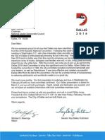 Dallas Letter Jewish Council
