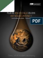 PLUS DE 80% DES FAILLIS EN 2013 ONT NÉGLIGÉ L'INTERNET