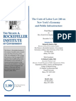 The Costs of Labor Law 240 on New York's Economy and Public