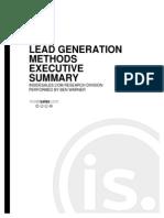 Lead Generation Methods - Executive Summary