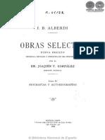 OBRAS SELECTAS - TOMO IV - JUAN BAUTISTA ALBERDI - PORTALGUARANI