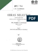 OBRAS SELECTAS - TOMO V - JUAN BAUTISTA ALBERDI - PORTALGUARANI