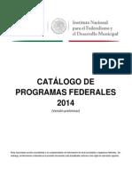 Catalogo Programas Federales 2014 2