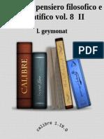 Storia Del Pensiero Filosofico e Scientifico Vol. 8 II - l. Geymonat