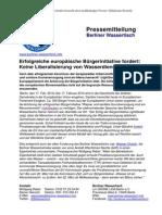 Pressemitteilung vom Berliner Wassertisch vom 17. Februar 2014