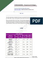Tabela Geral de Processadores - Temperaturas & Voltagens