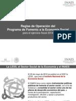 INAES REGLAS DE OPERACIÓN