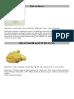 Aire de Limon y Gelatina de Aceite de Oliva