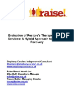 Evaluation of Restore's Therapeutic Work Services