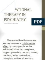 Occupational Therapy in Psychiatry