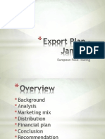 Export Plan - Jamaica