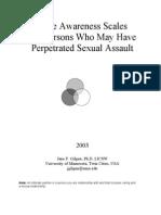 Rape Awareness Scales for Men