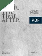 RANCIERE- BÉLA TARR, THE TIME AFTER