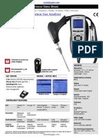 Kimo Kigaz 150 Combustion Gas Analyzer Datasheet