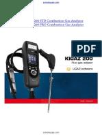 Kimo Kigaz 200 Combustion Gas Analyzer Manual