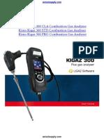 AC Kimo Kigaz 300 Combustion Gas Analyzer Manual