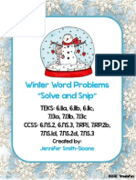 maths - word problems, winter ed.