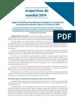 Situación y perspectivas de la economia mundial 2014