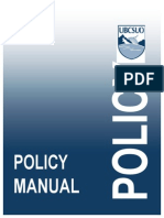 Policy Manual 2014