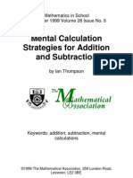 1999 Mental Calculation Strategies for Addition and Subtraction