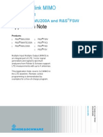 LTE Downlink Mimo Verification Application Note