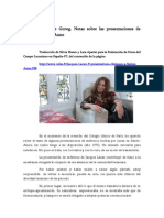 traducción entrevista Françoise Gorog