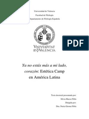 ca20e934e017 Estética CAMP en América Latina | Teoría queer | Novelas