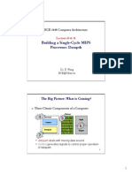 Building a SIngle Cycle MIPS Processor