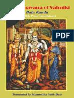 Valmiki Ramayana - MN Dutt - Volume 1 - Bala Kanda
