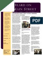 Heard on Main Street Fall 2008 Newsletter