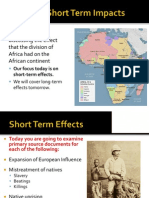 WebNotes - 2014 - Short Term Effects of African Colonization
