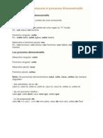 Les déterminants et pronoms démonstratifs