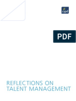 Cipd - Reflections on Talent Management