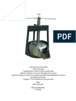 Cast Aluminum Press Plate