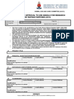 2012_ Application Form, Experimental Animals - Questionaire (S4524-12)