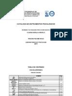 102386078 Catalogo 2011 de Test Psicologicos